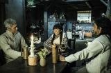 大河ファンタジー『精霊の守り人〜最終章〜』第2回より。ジグロ(吉川晃司)、バルサの叔母ユーカ(花總まり)、カグロ(渡辺いっけい)(C)NHK