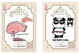 「クイーン・デー」の対象商品についてくるサンリオキャラが描かれた「クイーンカード」(『KIRIMIちゃん.・ロースちゃん』『バットばつ丸・伊集院パンダバ』)