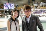 ロボコン応援団長の哀川翔と応援リーダーの吉本実憂(写真は8月に行われたABUロボコン世界大会での写真)(C)NHK