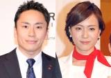 結婚を発表した(左から)太田雄貴選手、笹川友里アナウンサー (C)ORICON NewS inc.