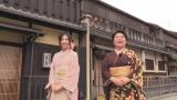 京都出身の女優・山村紅葉と京都の街歩きロケも敢行(C)NHK