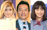 (左から)ローラ、遠藤憲一、広瀬すず(C)ORICON NewS inc.
