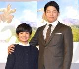 (左から)渡邉蒼と鈴木亮平=NHK『西郷どん』第一回試写会 (C)ORICON NewS inc.