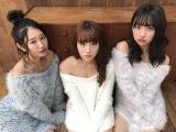 SUPER☆GiRLS(左から)内村莉彩、浅川梨奈、渡邉幸愛