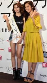 『シブピカフェス』オーディションのグランプリに輝いた高橋紀子さん(左)とゲストの中村アン (C)ORICON NewS inc.