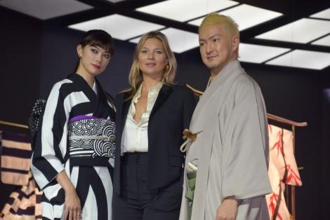 (左から)森星、ケイト・モス、中村獅童 (C)ORICON NewS inc.