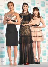 (左から)AYA、マギー、吉田朱里 (C)ORICON NewS inc.