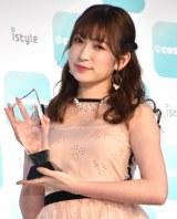 『ベストビューティストアワード』で「クリエイター賞」を受賞したNMB48・吉田朱里 (C)ORICON NewS inc.