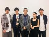 日本テレビにて放送される連続ドラマ『漫画みたいにいかない。』に出演する東京03、山下健二郎、山本舞香 (C)日本テレビ