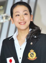 「女性部門」1位に選ばれた、フィギュアスケートの浅田真央選手 (C)ORICON DD inc.