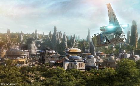 サムネイル TDL「スター・ツアーズ:ザ・アドベンチャーズ・コンティニュー」に新登場する「最後のジェダイ」シーンのイメージ。 (C) Disney