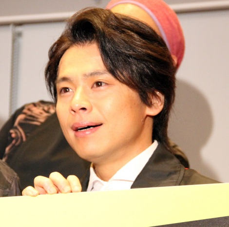 ミュージカル『HEADS UP!』初日公演前の公開ゲネプロ前の囲み取材に出席した中川晃教 (C)ORICON NewS inc.