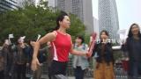 「ENEOS エネルギーソング リレー」篇に出演した村上清加選手