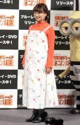 映画『怪盗グルーのミニオン大脱走』Blu-ray&DVDリリース記念イベントに出席した保田圭 (C)ORICON NewS inc.