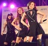 『APPI BUBBLY DISCO NIGHT』記者発表会でダンスを披露したMAX (C)ORICON NewS inc.