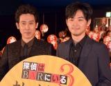 映画『探偵はBARにいる』続編への思いに温度差?(左から)大泉洋、松田龍平 (C)ORICON NewS inc.