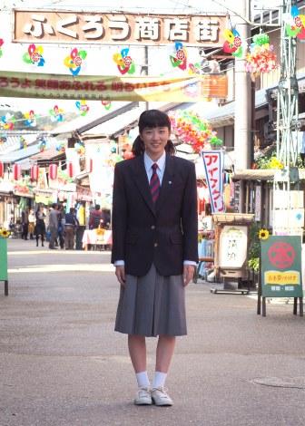 2018年前期連続テレビ小説『半分、青い』ヒロイン・永野芽郁の撮影現場取材 (C)ORICON NewS inc.