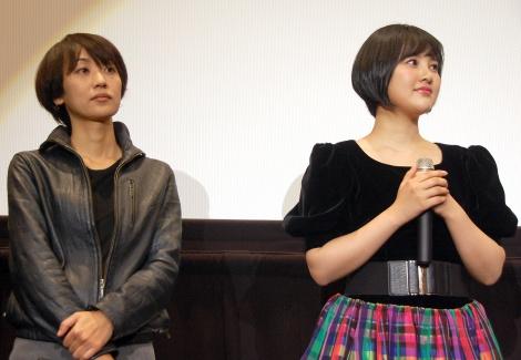 (左から)横浜聡子監督、兒玉遥=『東映 presents HKT48×48人の映画監督たち』特別試写会の模様 (C)ORICON NewS inc.