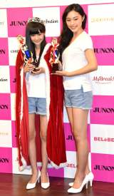 『GRIFFIN presents 第4回JUNON produce Girls CONTEST』(左から)岸畑来瞳さん、山口美月 (C)ORICON NewS inc.