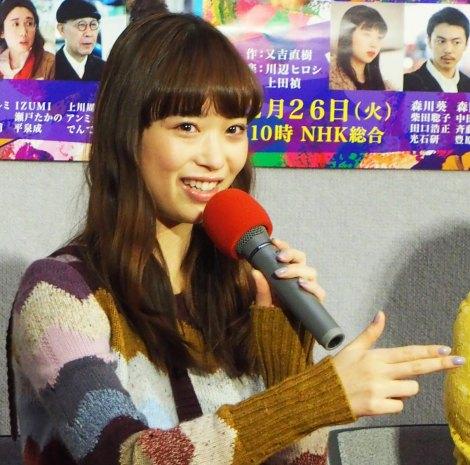 NHKドラマ『許さないという暴力について考えろ』試写会に出席した森川葵 (C)ORICON NewS inc.