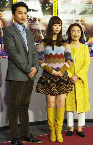 NHKドラマ『許さないという暴力について考えろ』試写会(左から)森岡龍、森川葵、宮本信子 (C)ORICON NewS inc.
