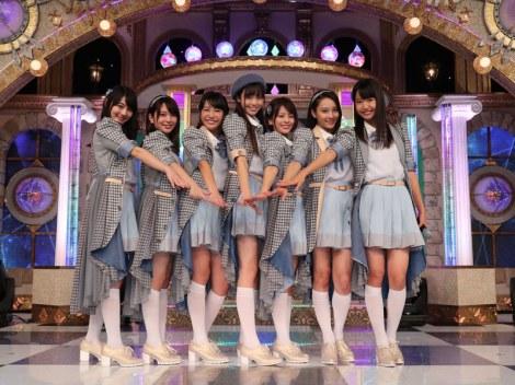 テレビ朝日のオーディション番組『ラストアイドル』より。正式決定したメンバー7人(C)テレビ朝日