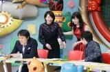 後輩の角谷暁子アナウンサーから迎え入れられる形で登場した大橋未歩(C)テレビ東京