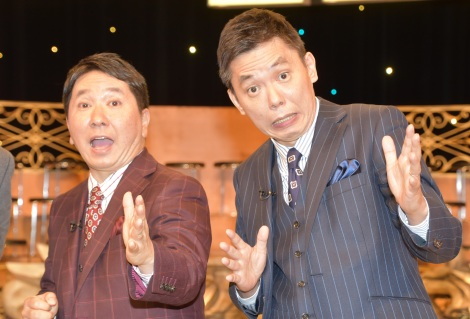 TBS系のスポーツ大型特番『KYOKUGEN』収録後の囲み取材に出席した爆笑問題 (C)ORICON NewS inc.