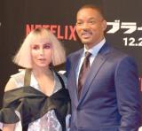 Netflixオリジナル映画『ブライト』ジャパンプレミアに出席した(左から)ノオミ・ラパス、ウィル・スミス (C)ORICON NewS inc.