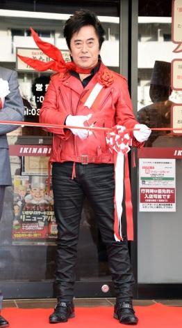 いきなりステーキ渋谷青山通り店で行われた店内装飾イベントに参加した水木一郎 (C)ORICON NewS inc.