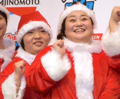 味の素冷凍食品『つづきは売り場で!キャンペーン第2弾』の記者発表会に出席したおかずクラブ(左から)オカリナ、ゆいP (C)ORICON NewS inc.