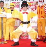 チキンマックナゲット「クリスマスキャンペーン」発表会に出席した怪盗ナゲッツ (C)ORICON NewS inc.