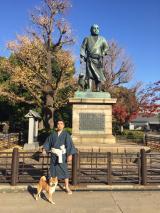 東京・上野の西郷像に決意(何の?)を誓ったレキシ(C)NHK