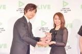 『LINE LIVE OF THE YEAR 2017』の「プロモーション部門」を受賞した、乃木坂46・桜井玲香(C)oricon ME inc.