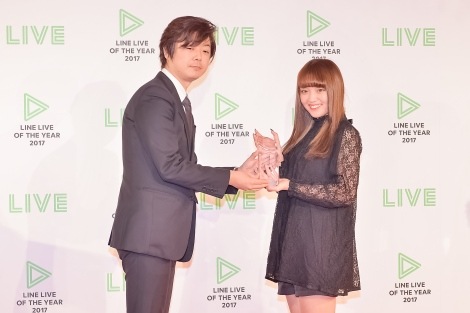 『LINE LIVE OF THE YEAR 2017』の「LINE LIVER部門」を受賞