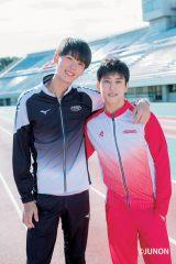 『JUNON』2月号に登場する(左から)竹内涼真、佐野岳(C)JUNON