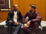 Netflixオリジナル映画『ブライト』のプロモーションで14回目の来日を果たしたウィル・スミス(左)と共演のジョエル・エドガートン (C)ORICON NewS inc.