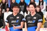 リオ五輪メダリストコンビ水谷隼(右)・吉村真晴(左)がとんねるずの助っ人に(C)テレビ朝日