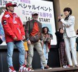 荻野目洋子(右)のイベントにゲスト出演したKENZO(左)、カーニバル三浦 (C)ORICON NewS inc.