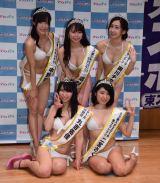 (前列左から)丸吉佑佳、二宮さくら、(後列左から)中野聖子、嶋村瞳、奥川チカリ (C)ORICON NewS inc.