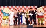 (左から)いけや賢二、チーモンチョーチュウ、ゆりやんレトリィバァ、とろサーモン、あべこうじ (C)ORICON NewS inc.