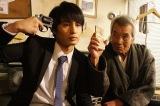 1月13日放送、BSジャパン『命売ります』#1「開業。命売ります」より(左から)中村蒼、田中泯(C)「命売ります」製作委員会