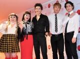 『第68回NHK紅白歌合戦』リハーサルに参加した(左から)渡辺直美、ブルゾンちえみ、オースティン・マホーン、ブリリアン・コージ、ダイキ (C)ORICON NewS inc.