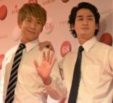 『第68回NHK紅白歌合戦』リハーサルに参加した(左から)ブリリアン・コージ、ダイキ (C)ORICON NewS inc.