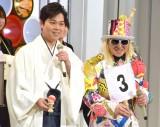 『第68回NHK紅白歌合戦』リハーサル3日目に参加した(左から)三山ひろし、DJ KOO (C)ORICON NewS inc.