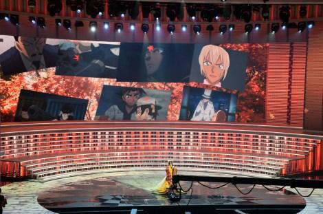 『第68回NHK紅白歌合戦』で名探偵コナンとコラボした倉木麻衣 (C)ORICON NewS inc.