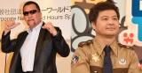 (左から)蝶野正洋、月亭方正 (C)ORICON NewS inc.