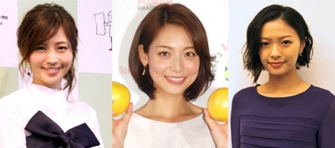 サムネイル 2017年に揃ってママとなった(左から)安田美沙子、相武紗季、榮倉奈々 (C)ORICON NewS inc.