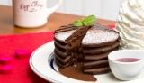 中からチョコレートがとろ〜り『フォンダンショコラパンケーキ 〜ラズベリーソース〜』