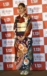 映画『悪と仮面のルール』の公開直前トークイベントに参加した新木優子 (C)ORICON NewS inc.